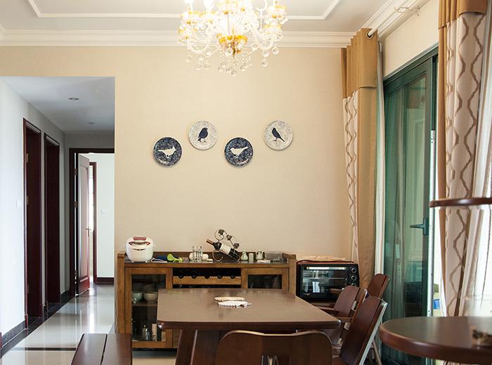 恒大翡翠华庭中式风格餐厅装修效果图