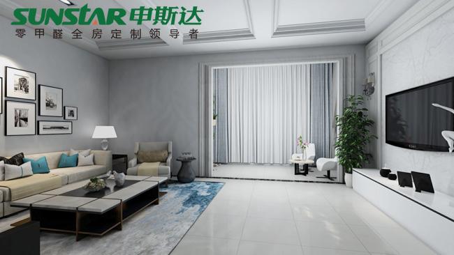 桃源盘塘村——申斯达现代简约风格衣柜定制案例