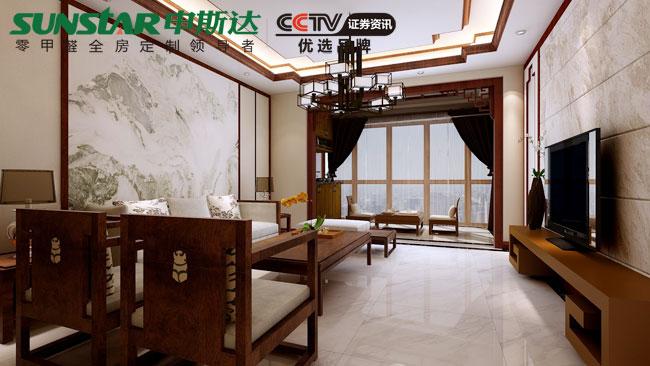 中式古典风格全屋定制效果图 申斯达&武汉航空花园案例鉴赏
