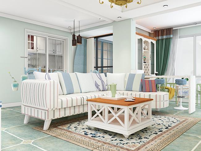 地中海风格——申斯达77平两居室全景全屋定制案例
