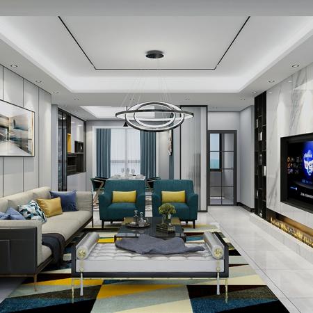 现代轻奢风格 130平3房全屋定制