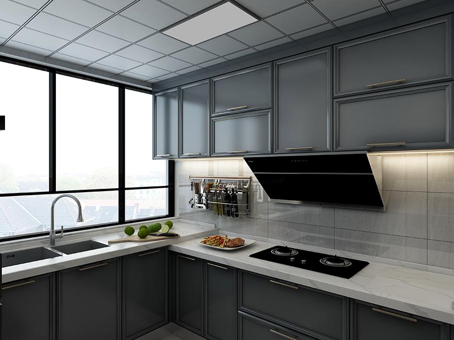 简约美式厨房橱柜展示