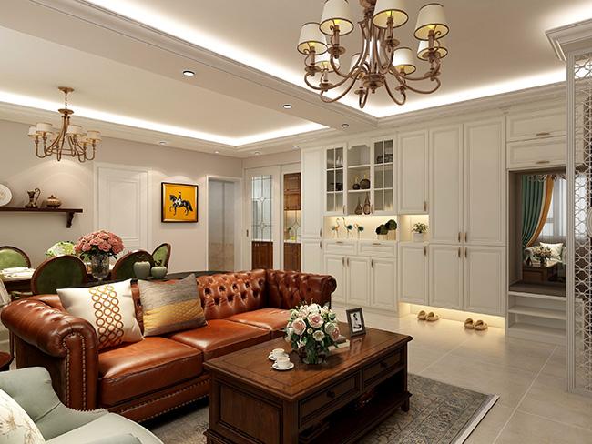 美式风格——申斯达146平4房衣柜定制全景案例