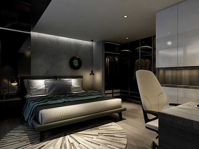 现代loft风格——申斯达54方一居全屋定制全景案例