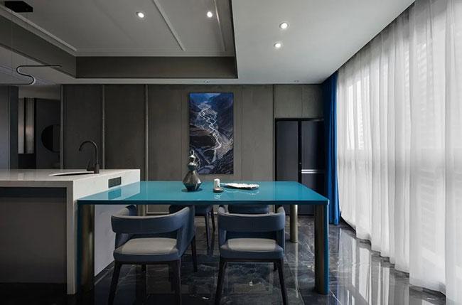 高级灰+深邃蓝打造高逼格家居空间 让家绽放出非凡魅力!