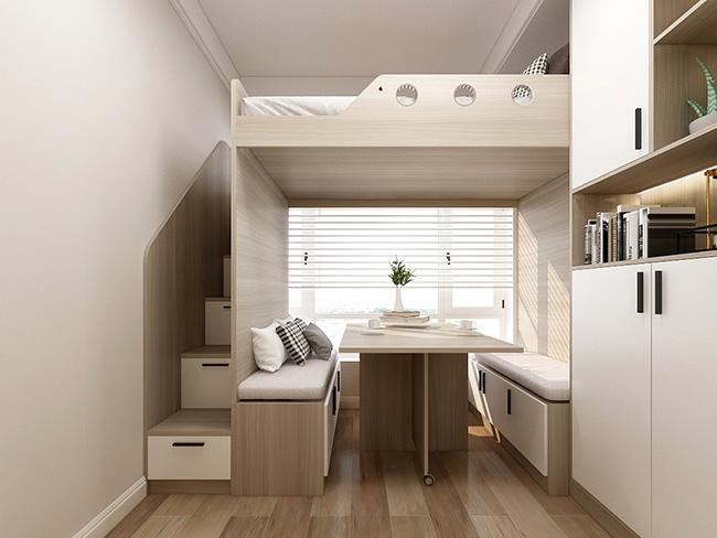 现代简约风格——申斯达119平4房全屋定制全景案例