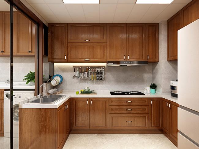 简美风格——申斯达133平4房橱柜定制案例