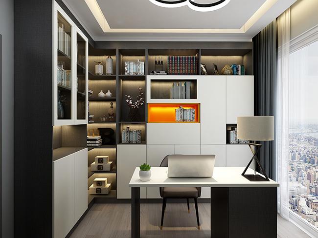 现代轻奢风格——申斯达143平4房全屋定制全景案例