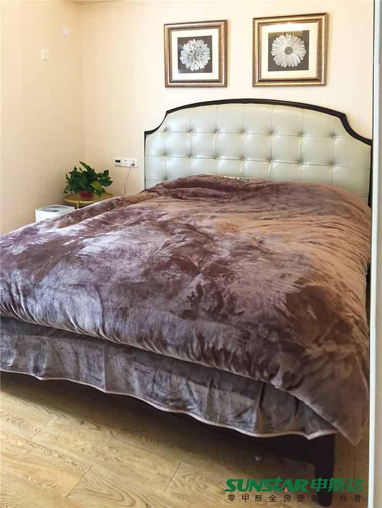 株洲奥园小区轻奢小美风全房定制案例分享之卧室